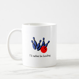 I'd Rather be Bowling, Personalized Coffee Mug