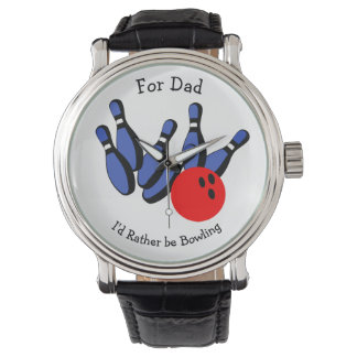 I'd Rather be Bowling, Personalized Watch