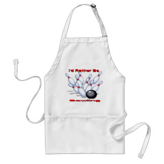 I'd Rather Be Bowling Standard Apron