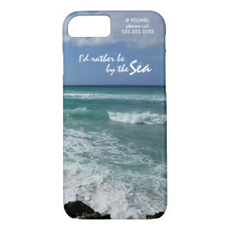 """I'd rather be by the Sea"" iPhone 8/7 Case"
