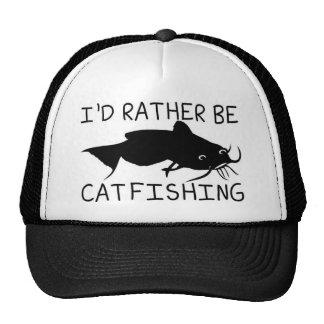 I'd Rather be Cat fishing design Trucker Hat