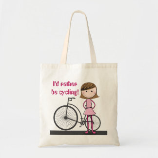 I'd rather be cycling! - A cute, useful tote bag.
