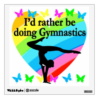 I'D RATHER BE DOING GYMNASTICS WALL DECAL