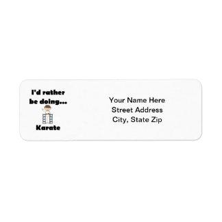 I'd rather be doing Karate Return Address Label