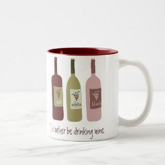 I'd rather be drinking wine Two-Tone mug