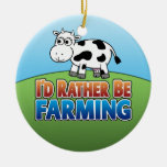 I'd Rather Be Farming - COW Christmas Tree Ornaments