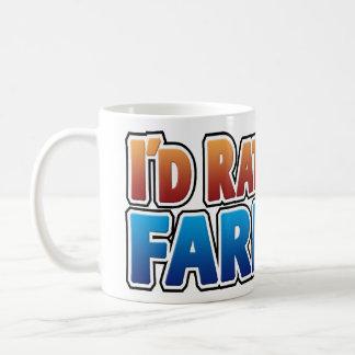 I'd Rather be Farming! (virtual farming) Classic White Coffee Mug