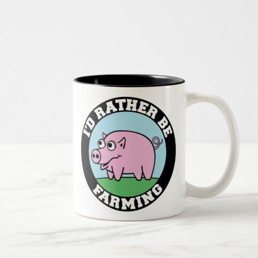 I'd Rather be Farming! (virtual farming) Mugs