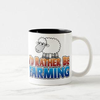 I'd Rather be Farming! (Virtual Farming) Two-Tone Mug