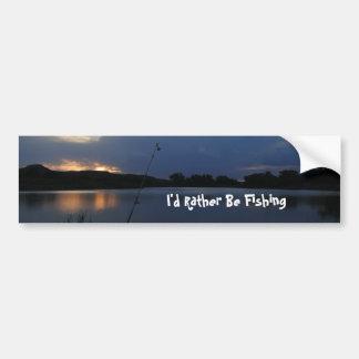 I'd Rather Be Fishing Bumpersticker Bumper Sticker