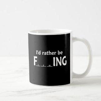 I'd Rather be FishING - Funny Fishing Classic White Coffee Mug