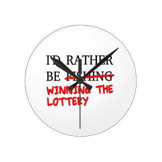 I'd Rather Be Fishing... Winning The Lottery Wallclock