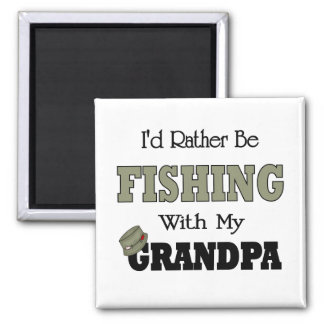 I'd Rather Be Fishing  with Grandpa Magnet