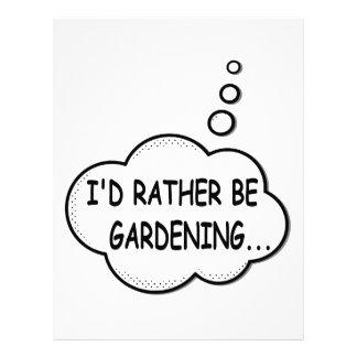 I'd Rather Be Gardening Letterhead