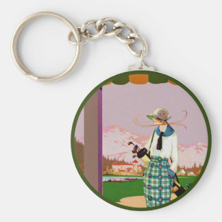 I'd Rather Be Golfing Basic Round Button Keychain