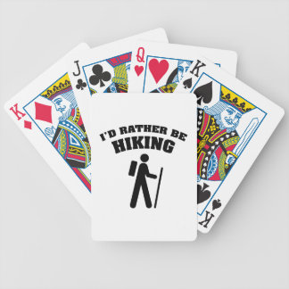 I'd Rather Be Hiking Bicycle Playing Cards