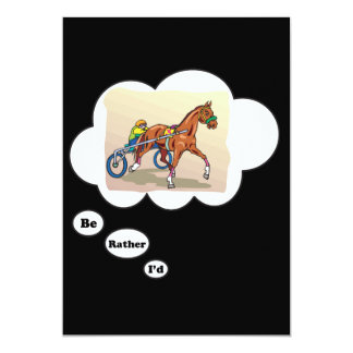 """I'd rather be Horse Racing 5"""" X 7"""" Invitation Card"""