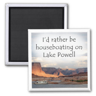 I'd rather be houseboating on Lake Powell Magnet