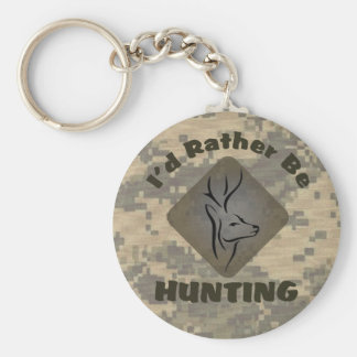 I'd Rather Be Hunting for Hunters Basic Round Button Keychain