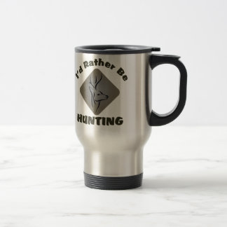 I'd Rather Be Hunting Hunter Logo 15 Oz Stainless Steel Travel Mug