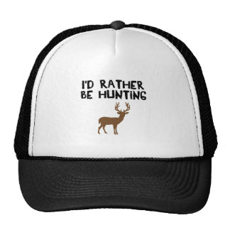 id rather be hunting trucker hat