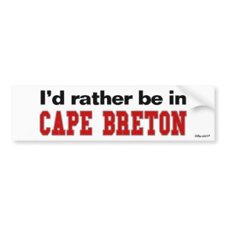 I'd Rather Be In Cape Breton