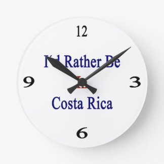 I'd Rather Be In Costa Rica Round Clock