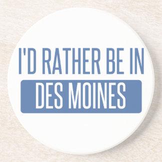 I'd rather be in Des Moines Beverage Coaster