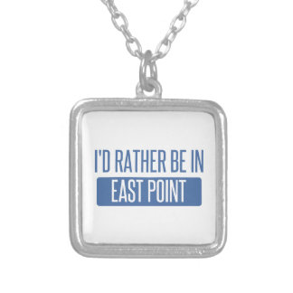 I'd rather be in East Point Silver Plated Necklace