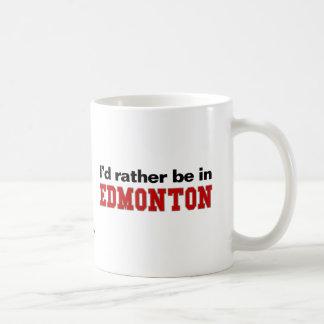 I'd Rather Be In Edmonton Basic White Mug