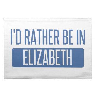 I'd rather be in Elizabeth Place Mats