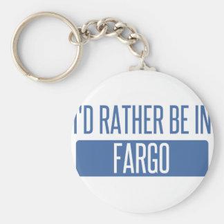 I'd rather be in Fargo Basic Round Button Keychain