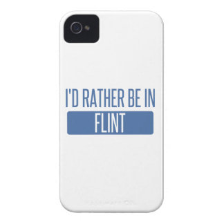 I'd rather be in Flint Case-Mate iPhone 4 Cases