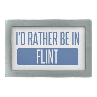 I'd rather be in Flint Rectangular Belt Buckles
