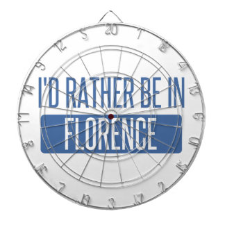 I'd rather be in Florence Dartboard