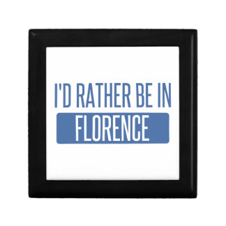 I'd rather be in Florence Jewelry Box