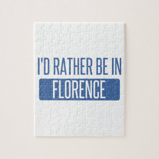 I'd rather be in Florence Jigsaw Puzzle