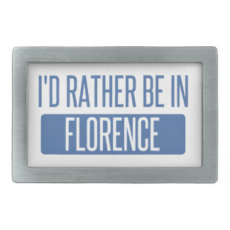I'd rather be in Florence Rectangular Belt Buckle