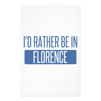 I'd rather be in Florence Stationery