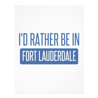 I'd rather be in Fort Lauderdale Letterhead