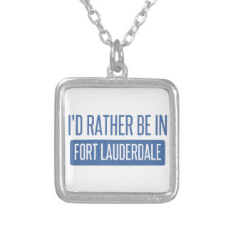 I'd rather be in Fort Lauderdale Silver Plated Necklace