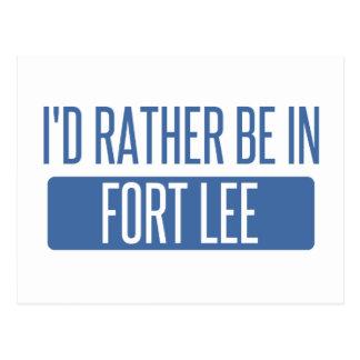 I'd rather be in Fort Lee Postcard