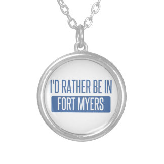 I'd rather be in Fort Myers Silver Plated Necklace
