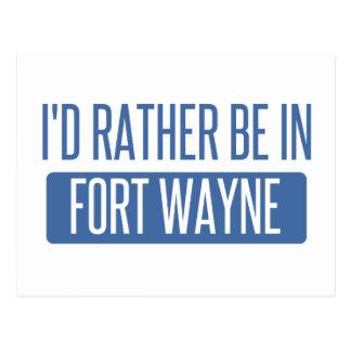 I'd rather be in Fort Wayne Postcard