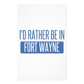 I'd rather be in Fort Wayne Stationery