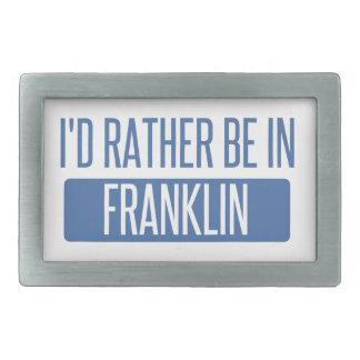 I'd rather be in Franklin WI Rectangular Belt Buckles