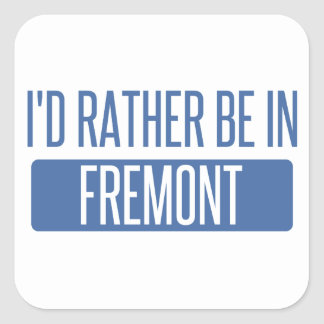 I'd rather be in Fremont Square Sticker