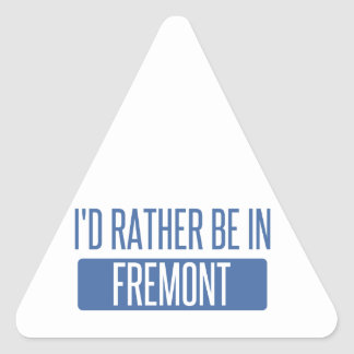 I'd rather be in Fremont Triangle Sticker