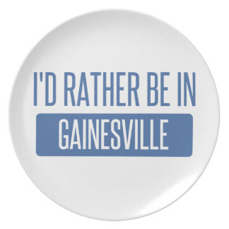 I'd rather be in Gainesville GA Plate