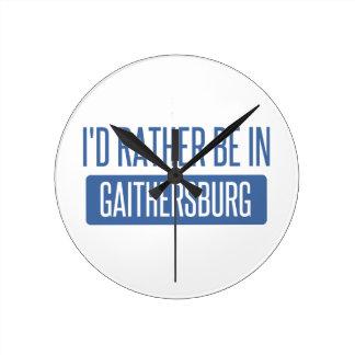 I'd rather be in Gaithersburg Round Clock